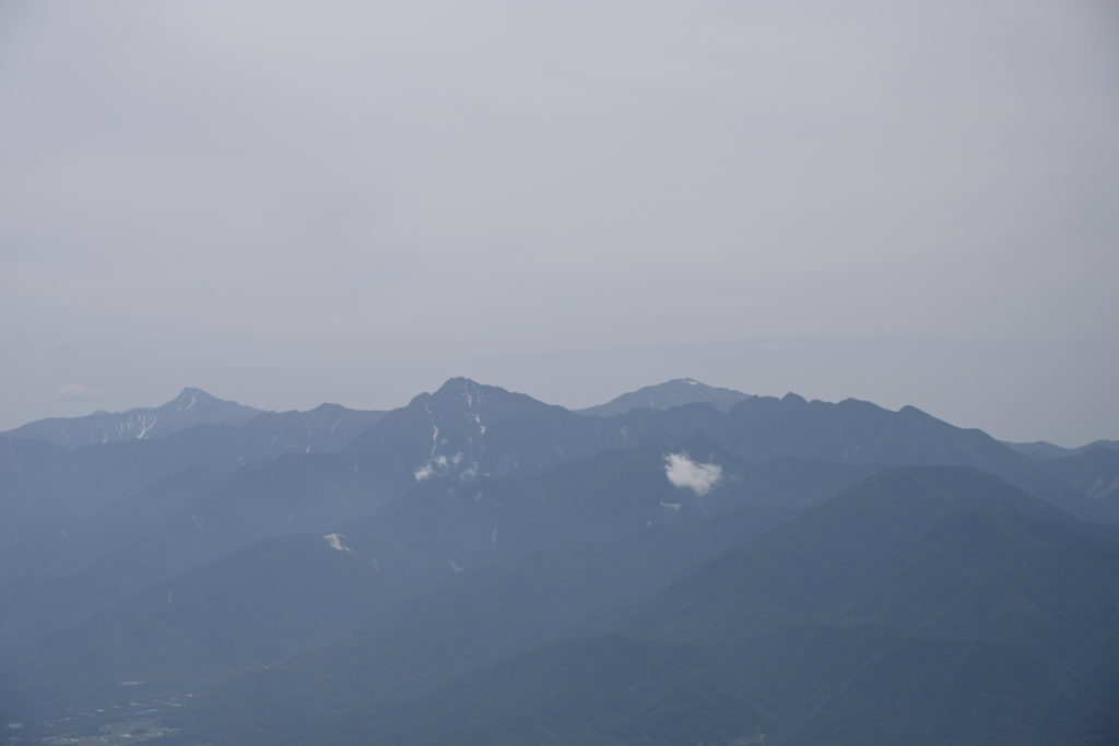 西岳から見る南アルプス