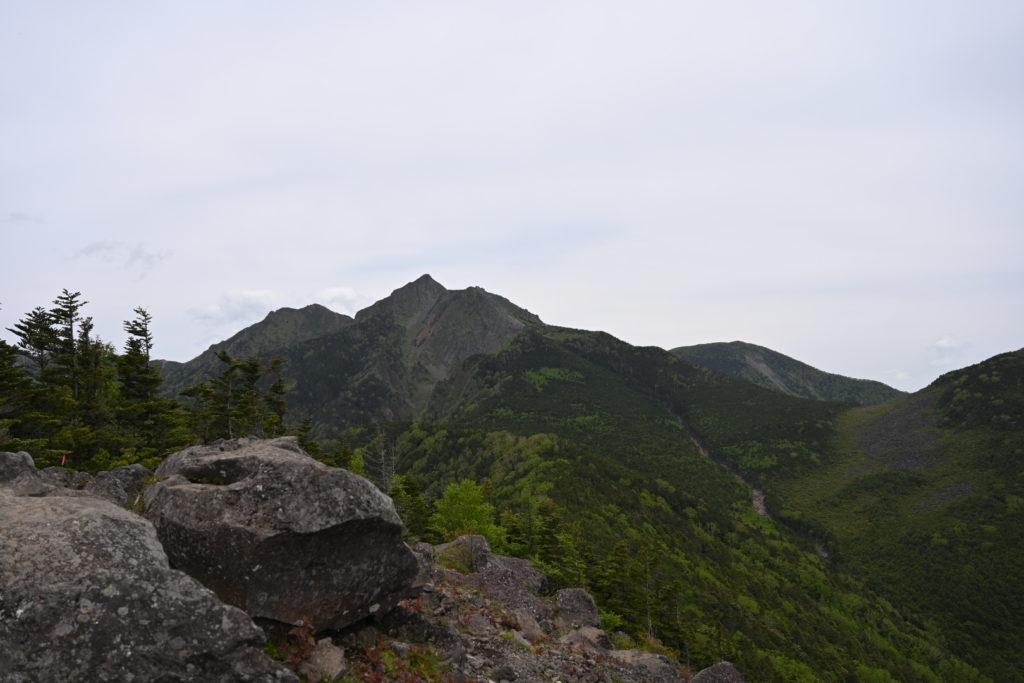 西岳山頂から権現岳方面