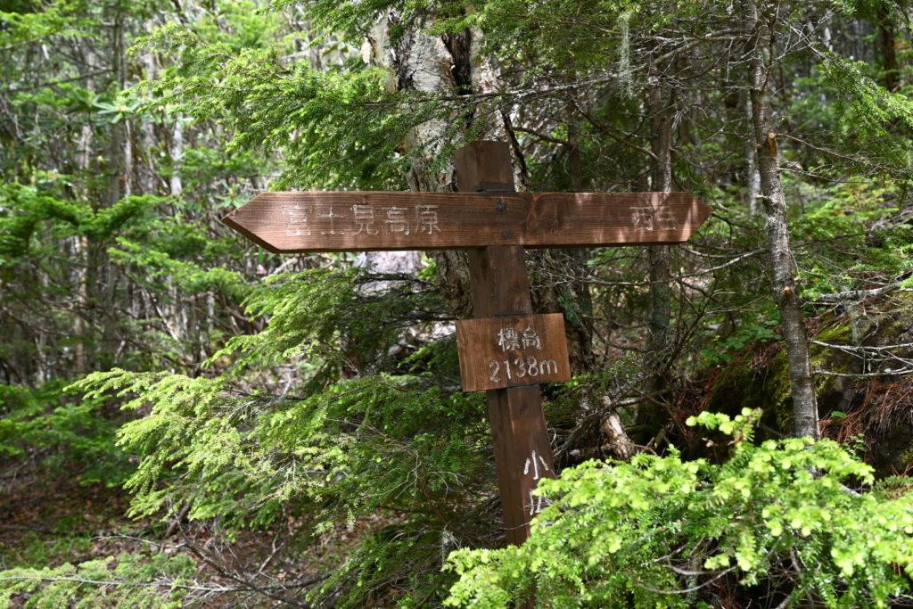 西岳 標高2138m標識