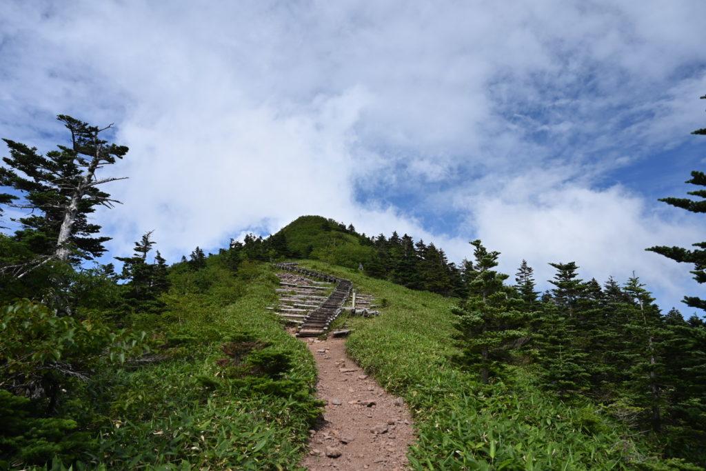 四阿山山頂への道